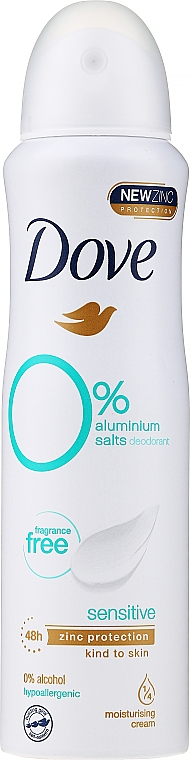Desodorante spray antitranspirante para mujeres, sin alcohol - Dove Sensitive Antiperspirant