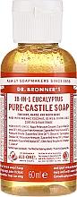 Perfumería y cosmética Jabón líquido de coco, oliva y jojoba con eucalipto - Dr. Bronner's 18-in-1 Pure Castile Soap Eucalyptus