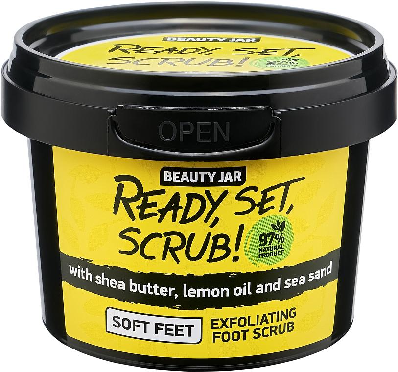 Exfoliante para pies natural con karité y aceite de limón - Beauty Jar Ready, Set, Scrub! Exfoliating Foot Scrub