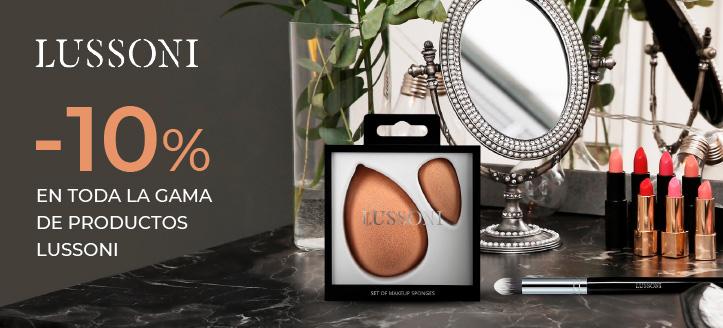 Rebajas del 10% en toda la gama de productos de Lussoni. Los precios indicados tienen el descuento aplicado