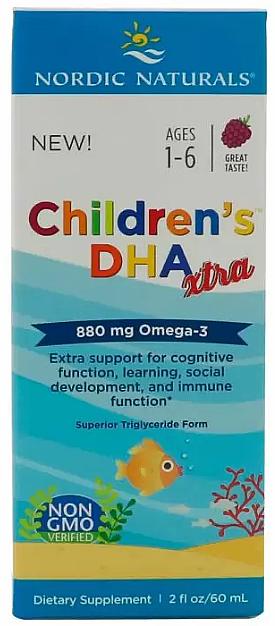 Complemento alimenticio de Omega-3 para niños, 880mg - Nordic Naturals Children's DHA Xtra