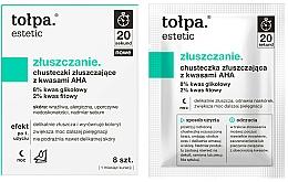Perfumería y cosmética Toallitas faciales exfoliantes con ácido AHA, 8% glicólico y 2% fítico - Tolpa Estetic Exfoliating Wipe