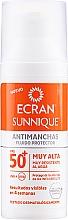 Perfumería y cosmética Fluido protector solar - Ecran Sunnique Antimanchas Facial Spf50+