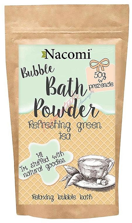 Polvo de baño ''Té verde'' con manteca de karité - Nacomi Refreshing Green Tea Bath Powder