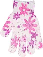 Perfumería y cosmética Guante de baño, 30512, blanco-rosa - Top Choice
