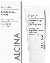 Perfumería y cosmética Autobronceador nutritivo con aceite de ricino - Alcina B Self-Tanning Cream