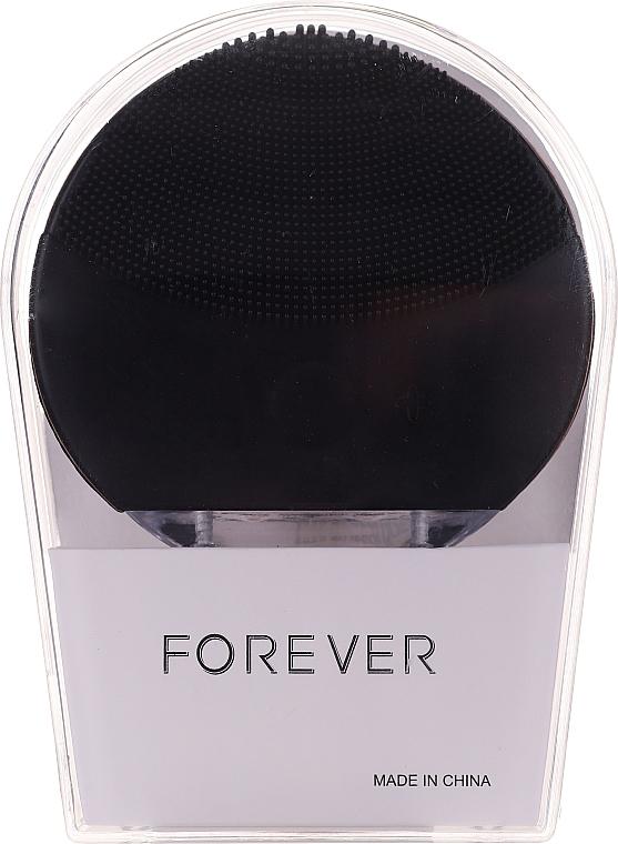Cepillo de limpieza facial sónico, negro - Forever Lina Facial Cleansing Brush Black