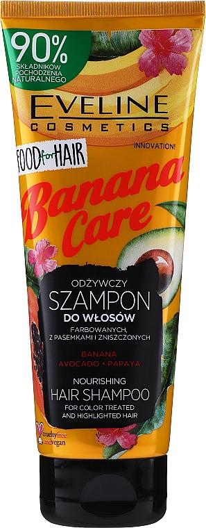 Champú para cabellos teñidos y con mechas - Eveline Cosmetics Food For Hair Banana Care Shampoo