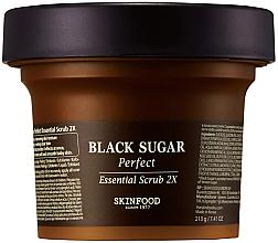 Perfumería y cosmética Exfoliante facial de azúcar morena, vino de arroz y extracto de frutas - SkinFood Black Sugar Perfect Essential Scrub 2X