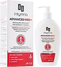 Perfumería y cosmética Emulsión de higiene íntima con complejo antifúngico, arándano y ácido láctico - AA Advanced Med+