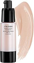 Perfumería y cosmética Base de maquillaje con efecto lifting para pieles normales a secas, SPF 17 - Shiseido Radiant Lifting Foundation Broad Spectrum SPF 17