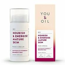 Perfumería y cosmética Crema facial con aceite de almendras y jojoba para pieles maduras - You & Oil Nourish & Energise Mature Skin Face Cream