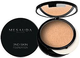 Perfumería y cosmética Base de maquillaje compacto en crema-polvo con efecto mate para pieles normales a secas - Mesauda Milano 2ND Skin Foundation