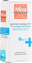 Perfumería y cosmética Crema facial hipoalergénica hidratante con glicerina - Mixa Sensitive Skin Expert 24 HR Moisturising Cream