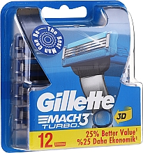 Perfumería y cosmética Recambios de cuchillas, 12uds. - Gillette Mach3 Turbo