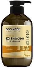 Perfumería y cosmética Crema natural para manos y cuerpo con marula, kukui y pantenol - Ecolatier Urban Nourishing Body & Hand Cream