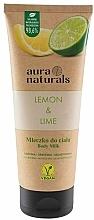 Perfumería y cosmética Leche corporal, limón y lima - Aura Naturals Lemon & Lime Body Milk