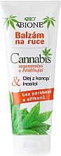 Perfumería y cosmética Bálsamo de manos con aceite de cáñamo - Bione Cosmetics Cannabis Hand Balm