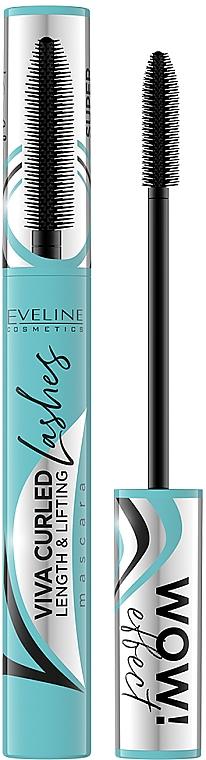 Máscara de pestañas para longitud y curvatura - Eveline Cosmetics Viva Curled Lashes Mascara Length And Lifting