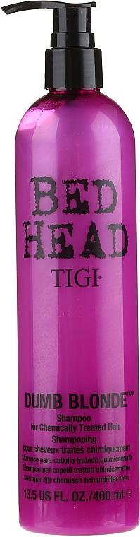 Champú para cabello tratado químicamente con aminoácidos - Tigi Bed Head Dumb Blonde Shampoo — imagen N1