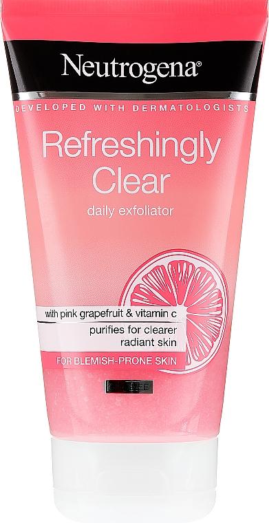 Exfoliante facial con pomelo rosado y vitamina C - Neutrogena Refreshingly Clear Daily Exfoliator