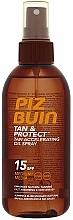 Perfumería y cosmética Aceite bronceador con protección solar - Piz Buin Tan&Protect Tan Accelerating Oil Spray SPF15
