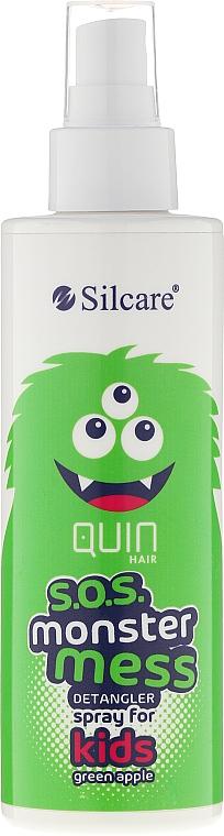 Spray desenredante de cabello infantil con aroma a manzana - Silcare Quin S.O.S. Monster Mess Kids Hair Spray