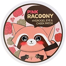 Perfumería y cosmética Parches para ojos y mejillas de hidrogel con extracto de rosas - Secret Key Pink Racoony Hydro-Gel Eye & Cheek Patch