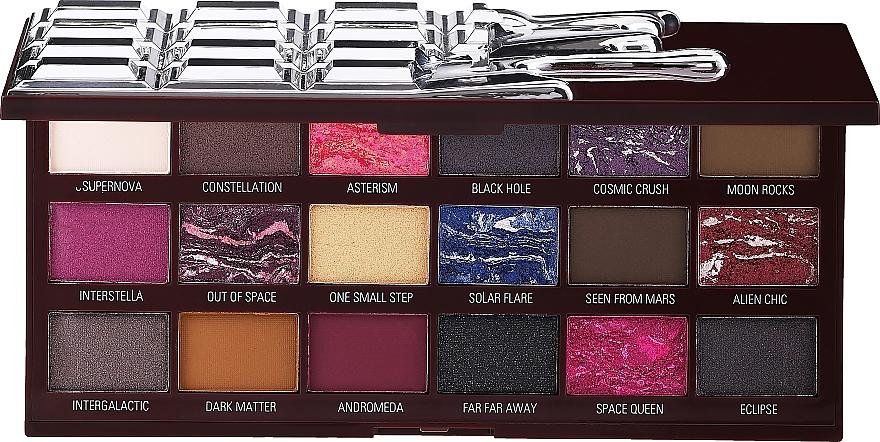 Paleta de sombras de ojos, 18 colores - I Heart Revolution Chocolate Galactic