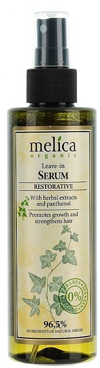 Sérum reparador de cabello con extractos de hierbas y pantenol, sin aclarado - Melica Organic Leave-in Restorative Serum