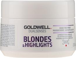 Perfumería y cosmética Tratamiento para cabellos rubios o con mechas con microprotec complex y luminescine - Goldwell Dualsenses Blondes & Highlights 60sec Treatment