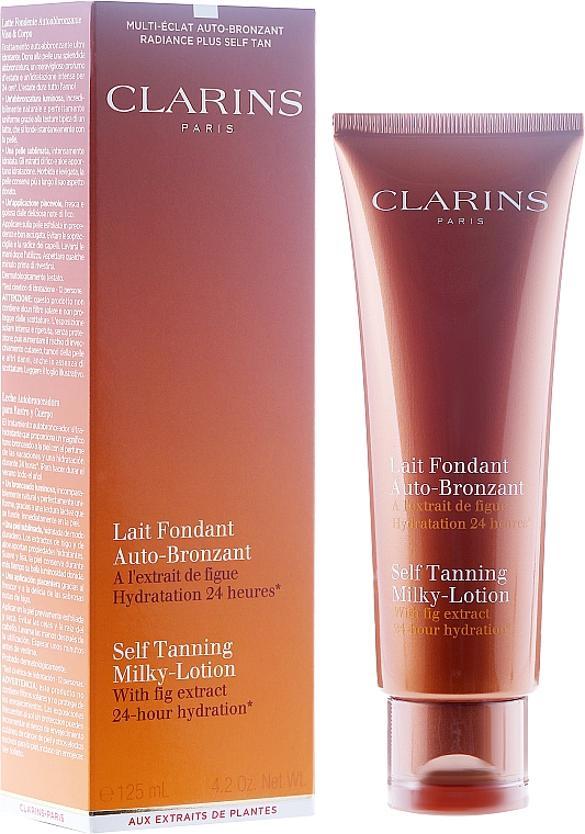 Leche autobronceadora para rostro y cuerpo - Clarins Self Tanning Milk SPF 6 — imagen N1