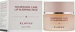 Perfumería y cosmética Mascarilla para labios de noche nutritiva con aceite de durazno - Klavuu Nourishing Care Lip Sleeping Pack