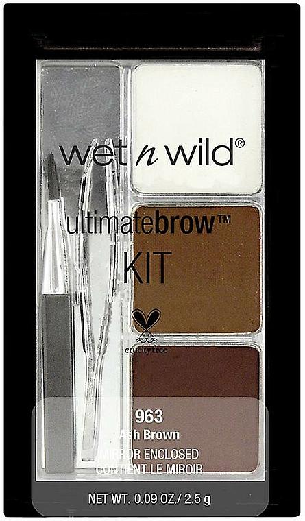 Kit para cejas (pinzas, cepillo, polvos x2 y cera x2) - Wet N Wild Ultimate Brow Kit