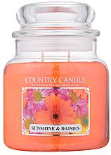 Perfumería y cosmética Vela en tarro con aroma a ámbar & margarita - Country Candle Sunshine & Daisies
