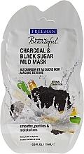 """Perfumería y cosmética Mascarilla de barro """"carbón y azúcar negra"""" - Freeman Feeling Beautiful Charcoal & Black Sugar Mud Mask (mini)"""