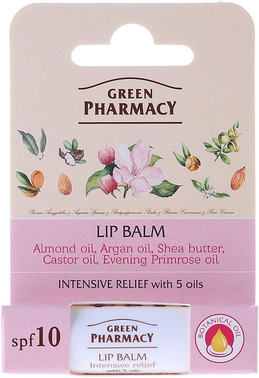 Bálsamo labial con 5 aceites - Green Pharmacy Lip Balm With 5 Oils, SPF 10