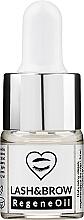 Perfumería y cosmética Aceite natural para cejas y pestañas hipoalergénico con ricina y extracto de avena - Lash Brow RegeneOil