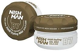Perfumería y cosmética Cera moldeadora de cabello en gel a base de agua, fijación firme - Nishman Hair Styling Gel Wax B7 Gold One