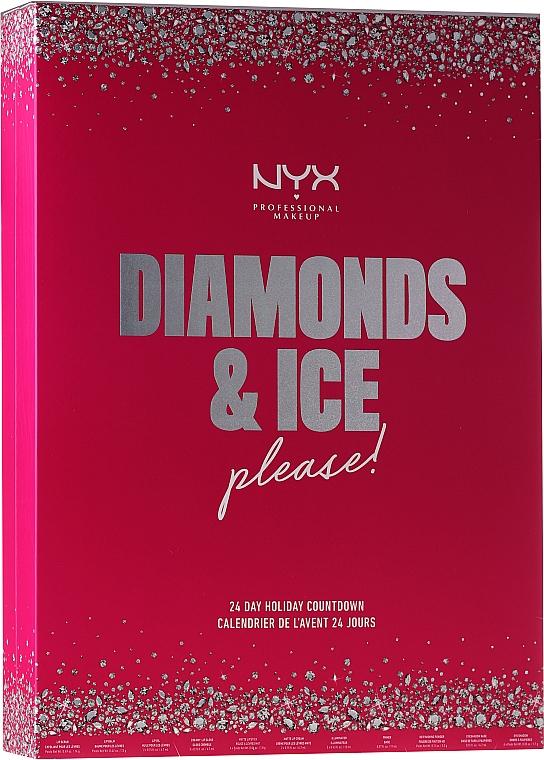 Set de maquillaje calendario de adviento 24 días - NYX Professional Makeup Diamond & Ice Advent Calendar Makeup Set