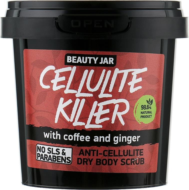 Exfoliante corporal anticelulítico con polvo de café y jengibre - Beauty Jar Anti-Cellulite Dry Body Scrub, Cellulite Killer