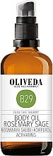 Perfumería y cosmética Aceite corporal hidratante con salvia & romero, 100% orgánico - Oliveda Body Oil Rosemary Salbei Activating