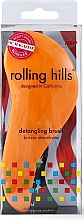 Perfumería y cosmética Cepillo de pelo desenredante, naranja, formato viaje - Rolling Hills Detangling Brush Travel Size Orange
