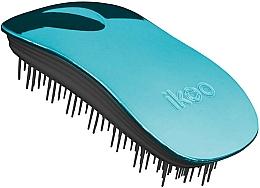 Perfumería y cosmética Cepillo de pelo desenredante, azul - Ikoo Home Pacific Metallic Black