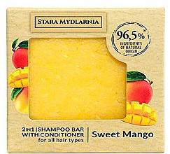 Perfumería y cosmética Champú acondicionador sólido 2en1 con extracto de mango - Stara Mydlarnia Sweet Mango 2in1 Shampoo Bar