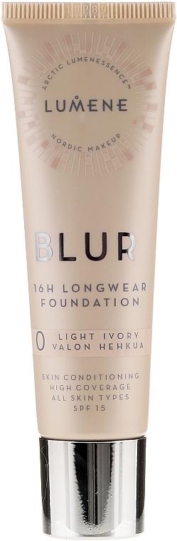 Base de maquillaje de larga duración - Lumene Blur 16H Longwear Foundation SPF15 2 Soft Honey
