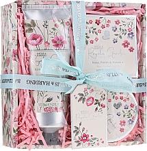Perfumería y cosmética Set (crema de ducha/130ml + manteca corporal/100ml + jabón/150g) - Baylis & Harding Royale Garden Rose Poppy And Vanila