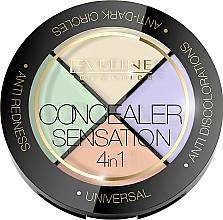 Perfumería y cosmética Paleta de correctores faciales - Eveline Cosmetics Concealer Sensation 4in1