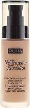 Perfumería y cosmética Base de maquillaje de larga duración, hidratación prolongada y cobertura media alta SPF 15 - Pupa No Transfer Foundation