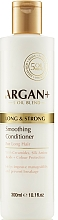 Perfumería y cosmética Acondicionador de cabello con ceramidas y aceite de argán - Argan + Long & Strong Smoothing Conditioner